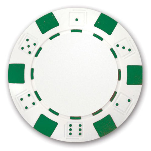Classic Personalized Poker Chips - Green Used Golf Balls - Foundgolfballs.com