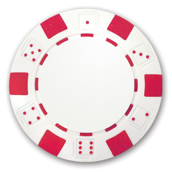 Classic Personalized Poker Chips - Red - Found Golf Balls