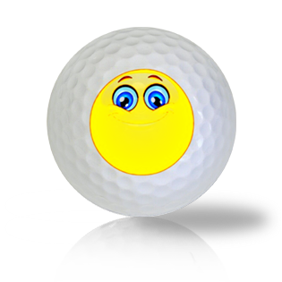 Happy and Proud Emoticon Golf Balls - Found Golf Balls