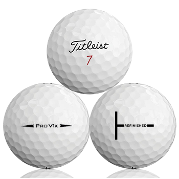Custom Titleist Pro V1X 2018 Refinished (T-Line) Used Golf Balls - Foundgolfballs.com