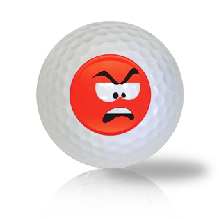 Really Disgusted Emoticon Golf Balls