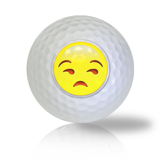 Rather Not Talk About It! Emoticon Golf Balls Used Golf Balls - Foundgolfballs.com
