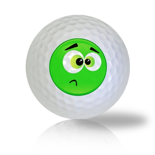 Sick Emoticon Golf Balls