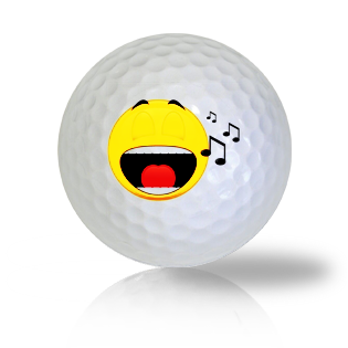 Singing Emoticon Golf Balls