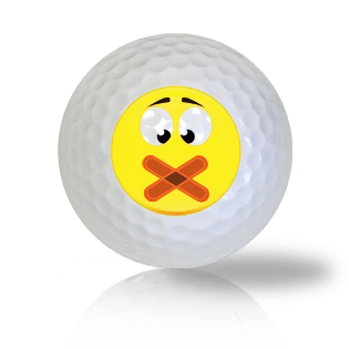 Oops! Slip up Emoticon Golf Balls
