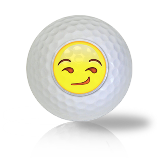 Smirk Emoticon Golf Balls