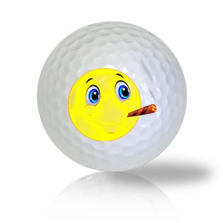 Cigar Smoking Emoticon Golf Balls - Found Golf Balls