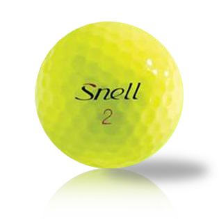 Custom Snell My Tour Ball Red Yellow Used Golf Balls - Foundgolfballs.com