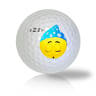 Sweetly Sleeping Emoticon Golf Balls