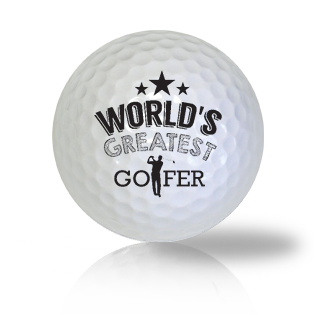 World's Greatest Golfer Golf Balls
