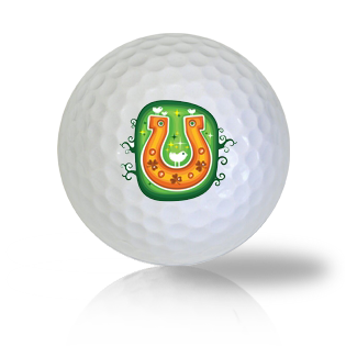St. Patrick's Day Horse Shoe Golf Balls - Found Golf Balls
