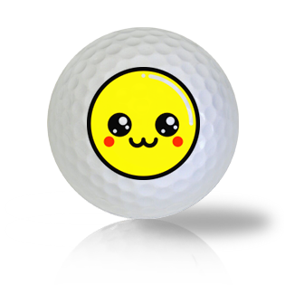 Starry Eyed Emoticon Golf Balls