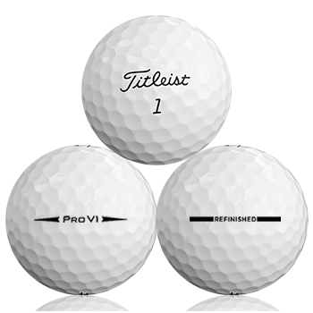 Custom Titleist Pro V1 2018 Refinished (Straight Line) Used Golf Balls - Foundgolfballs.com