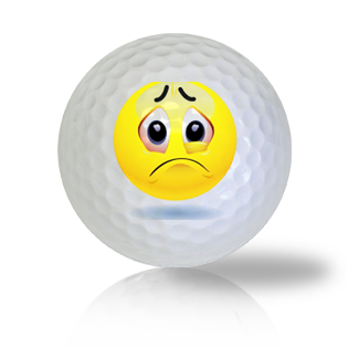 Oh No! Super Sad Emoticon Golf Balls