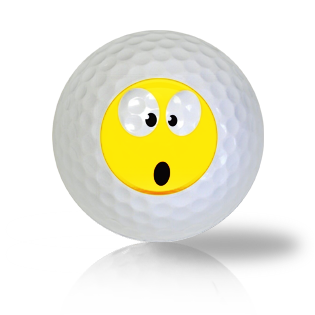 Surprised Emoticon Golf Balls