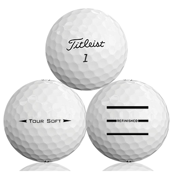 Custom Titleist Tour Soft Refinished (Triple-Line) Used Golf Balls - Foundgolfballs.com