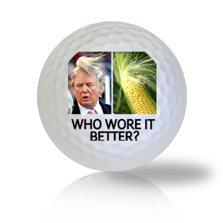 Donald Trump Who Wore Their Hair Better Golf Balls Used Golf Balls - Foundgolfballs.com