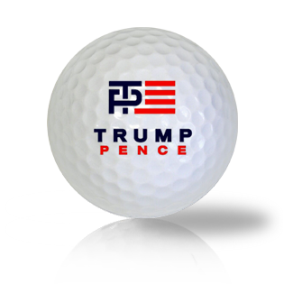 Donald Trump and Mike Pence Campaign Golf Balls Used Golf Balls - Foundgolfballs.com
