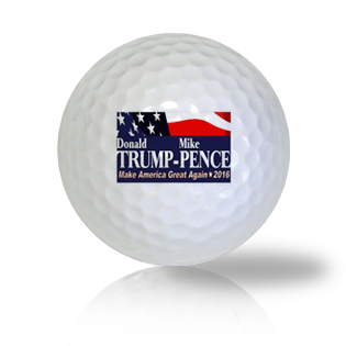 Donald Trump and Mike Pence Campaign Flag Golf Balls Used Golf Balls - Foundgolfballs.com