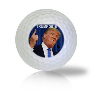 Donald Trump Making A Solid Point Golf Balls Used Golf Balls - Foundgolfballs.com