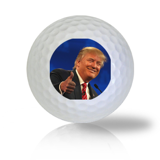 Donald Trump Giving a Thumbs Up Golf Balls Used Golf Balls - Foundgolfballs.com