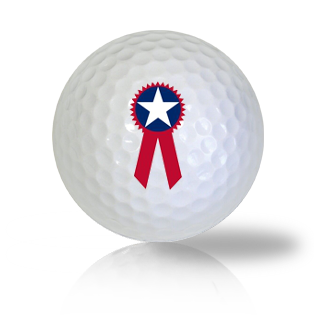 America Flag Ribbon Golf Balls Used Golf Balls - Foundgolfballs.com