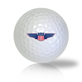 America Flag Shield Golf Balls Used Golf Balls - Foundgolfballs.com