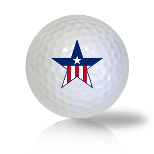America Flag Star Golf Balls - Found Golf Balls