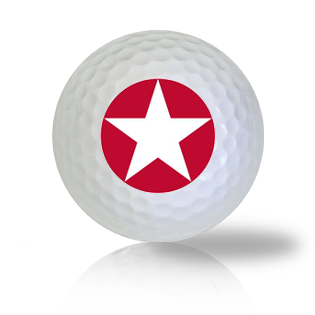 America Red Star Golf Balls Used Golf Balls - Foundgolfballs.com