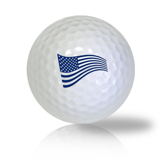 America Blue Flag Golf Balls - Found Golf Balls