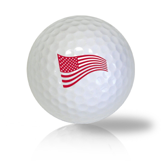 America Red Flag Golf Balls Used Golf Balls - Foundgolfballs.com