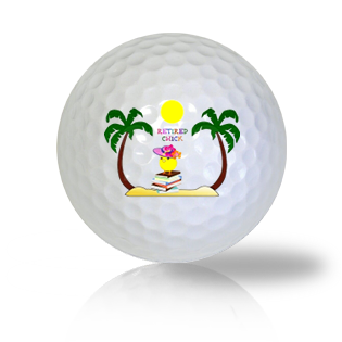 Retired To The Beach Golf Balls Used Golf Balls - Foundgolfballs.com