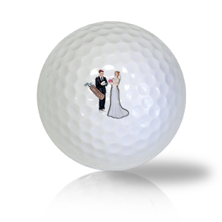 Bride & Groom Golf Balls - Found Golf Balls