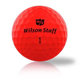 Custom Wilson Duo Soft Optic Red Used Golf Balls - Foundgolfballs.com