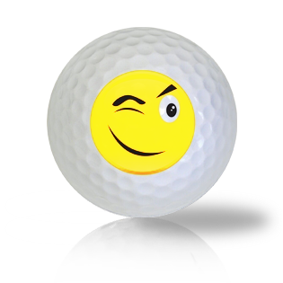 Sly Wink Emoticon Golf Balls