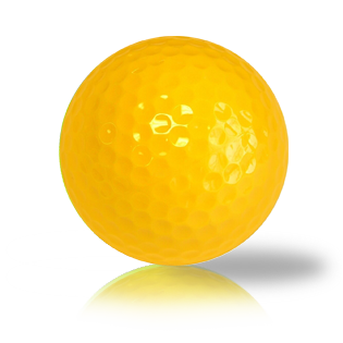 New Yellow Blank Balls Used Golf Balls - Foundgolfballs.com