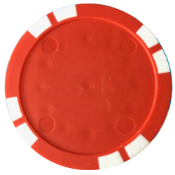 Personalized Poker Chips - Solid Red Used Golf Balls - Foundgolfballs.com