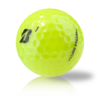 Custom Bridgestone B Extra Soft Yellow Used Golf Balls - Foundgolfballs.com