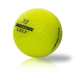 Custom Bridgestone Lady Precept Yellow Used Golf Balls - Foundgolfballs.com