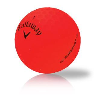 Custom Callaway Superhot Bold Red Used Golf Balls - Foundgolfballs.com