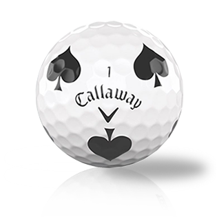 Callaway Chrome Soft Truvis Black Spades Used Golf Balls - Foundgolfballs.com