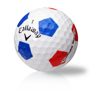 Callaway Chrome Soft X Truvis Red Blue Used Golf Balls - Foundgolfballs.com