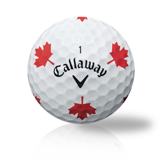 Callaway Chrome Soft Truvis Red Maple Leaf Used Golf Balls - Foundgolfballs.com