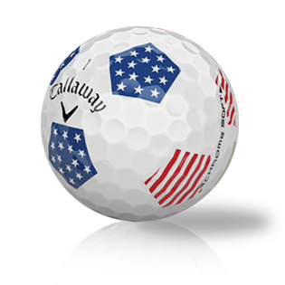 Callaway Chrome Soft Truvis Stars and Stripes Used Golf Balls - Foundgolfballs.com