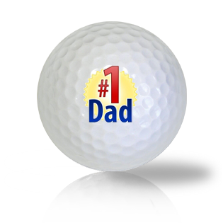 #1 Dad Golf Balls - Found Golf Balls