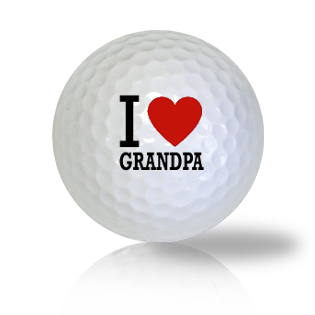 I Love Grandpa Golf Balls - Found Golf Balls