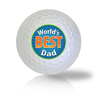 World's Best Dad Golf Balls