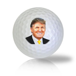 Donald Trump President in a Gold Tie Golf Balls Used Golf Balls - Foundgolfballs.com