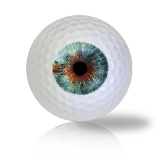 Aqua Blue Eye Ball Golf Balls Used Golf Balls - Foundgolfballs.com
