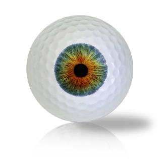 Blue Brown Eye Ball Golf Balls Used Golf Balls - Foundgolfballs.com